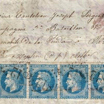 """Frankreich 1871-""""Boule de Moulins"""" für Paris Franked mit..."""