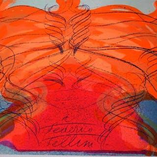 Jean Messagier - Compositie - Hommage a Federico Fellini