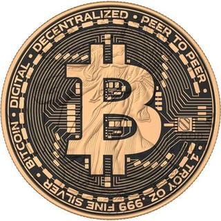 USA - 1 Dollar 2017 American Eagle - Bitcoin Wires - 1 oz - Silber