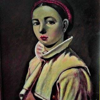 Rafael Dominguez Lujan (1942 -) - La Joven de la Diadema Roja