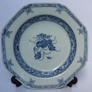 Plate (1) - Blue and white - Porcelain - China - Qianlong (1736-1795)