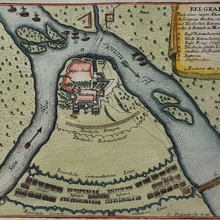 Serbien, Belgrado; G. Bodenehr - Belgrad. - ca. 1725