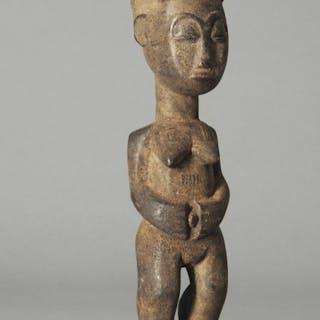 Statue(s) - Wood - Baoulé - Ivory Coast