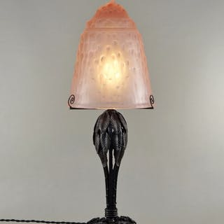 Muller Frères - large French Art Deco lamp