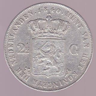 The Netherlands - 2 1/2 Gulden 1840 Willem I - Silver