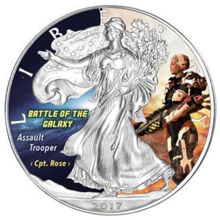 USA - 1 Dollar 2017 - Battle of the Galaxy (5th) Color - 1 oz - Silber
