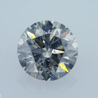 1 pcs Diamond - 1.31 ct - Round - fancy grey - GIA