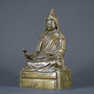 Panchen Lama bronze statue - Tibet - 18th century