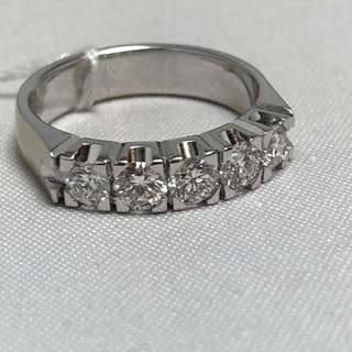 18 kt. White gold - Ring - 1.00 ct Diamond