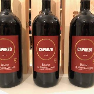 2016 Caparzo Rosso di Montalcino - Toskana - 3 Magnumflasche (1,5 L)