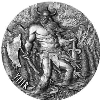 Tokelau Islands - 10 Dollar 2017 - 3 oz - YMIR : The Father Of Giants - Silver