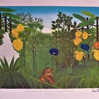 Le Douanier Rousseau (d'après) - 2 lithographies: Paysage exotique