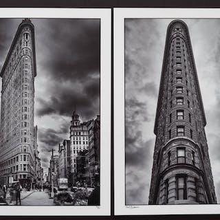 Paul Robert (1955-) - (2x) Flat Iron building, New York, 2016