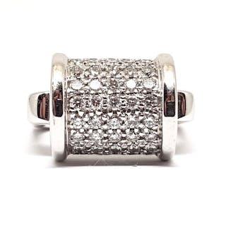 18 kt. White gold - Ring - 1.35 ct Diamond