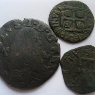 Italien, Neapel und Sulmona - lotto: Carlo II