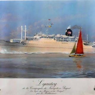 Roger Chapelet - 'Lyautey, Compagnie de Navigation Paquet' - 1952