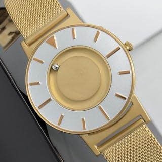 EONE - Bradley Gold with Mesh Strap Swiss Movement- BR-GLD - Unisex - Brand New