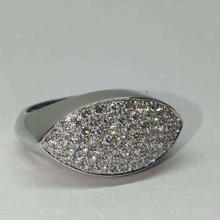 C & R Jewellery - 18 kt. White gold - Ring - 1.20 ct Diamond