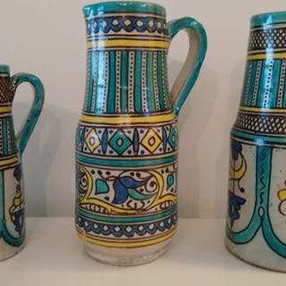 Milk jugs (3) - Earthenware - Morocco - Early 20th century