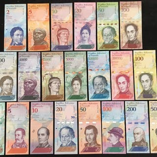 Venezuela - Lot various banknotes 2012/2018 (21 different)