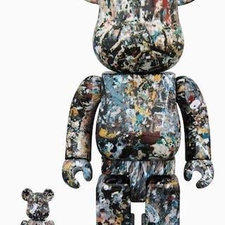 Jackson Pollock -Medicom bearbrick 400% & 100%