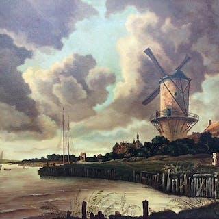Henk Reerink (20e eeuw), naar J. van Ruysdael - Wijk bij Duurstede