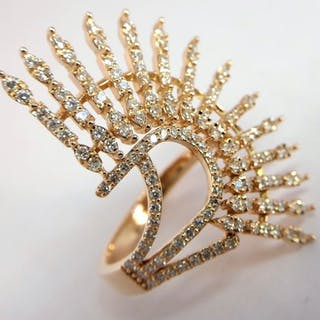 Swan Collection - 18 kt. Pink gold - Ring - 1.27 ct Diamond