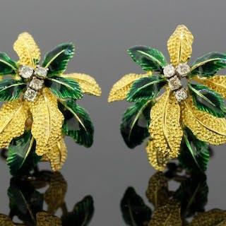 18 kt Gelbgold - Ohrringe Diamant