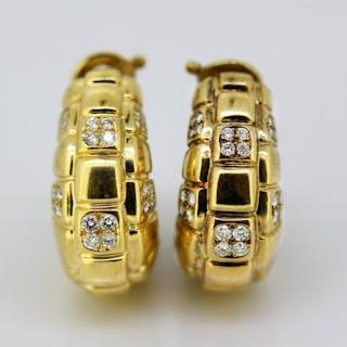 Asprey & Co - 18 kt. Yellow gold - Earrings Diamond