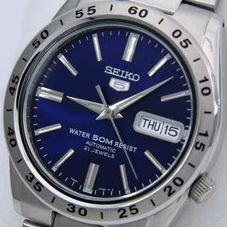 """Seiko - Unisex Automatic 21 Jewels """"Blue Dial"""" - - NO..."""