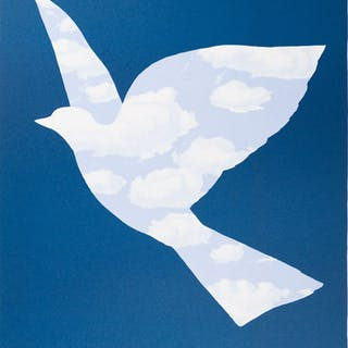 René Magritte (after) - L'oiseau de ciel (Sky bird)