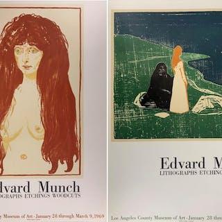 Edvard Munch - Nu & Vieillesse et Jeunesse (Ensemble de deux lithographies)