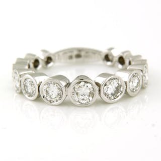 14 kt. White gold - Ring - 1.60 ct Diamond