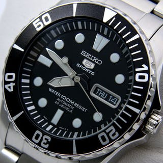 Seiko - Automatic 23 Jewels Black Dial - - NO RESERVE PRICE - - Men - 2018