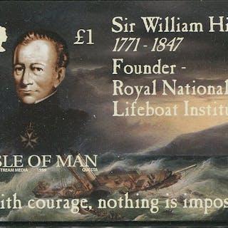 Kanalinseln 1999 - Isle of Man Sir William Hillary M/S Imperforate