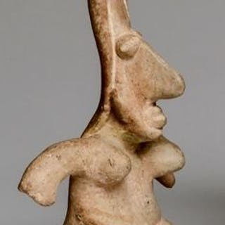 Pottery - seated Jalisco female figure - Mexico