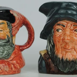 "Royal Doulton - Paar Charakterkrüge ""Van Winkle"" & ""Falstaff"" - Keramik"