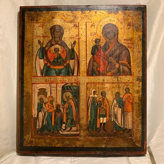 Icon, four fields (1) - Wood - 2nd half of the 19th century