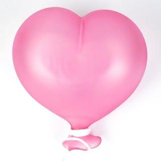Giuliano De Mio (Murano) - Herzballon zum Aufhängen von Rosa - Glas