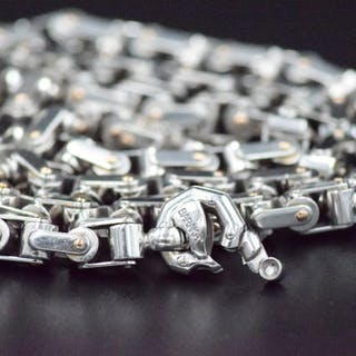 Baraka - 18 kt. White gold - Necklace - 0.02 ct Diamond