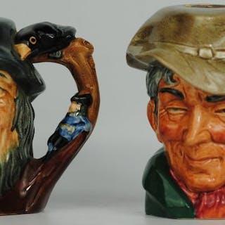 """Royal Doulton - Paar Charakterkrüge """"The Poacher"""" & """"Van Winkle"""" - Keramik"""