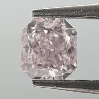 Diamond - 0.30 ct - Radiant - Natural - very light pink - SI2
