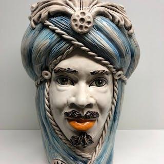 Caltagirone - Cache Pot, Ceramic object, Vase - Ceramic