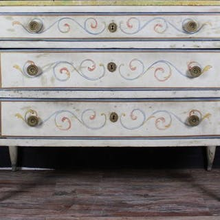 Piedmont wooden lacquered chest of drawers - Louis XVI - Ca. 1800