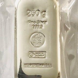 250 Gramm - Silber .999 - Heimerle & Meule Deutschland - Seal