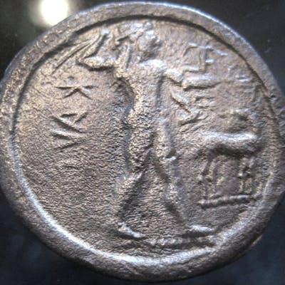 Grecia (antica) - Bruttium, Caulonia. AR Nomos, 525-500 BC - Argento