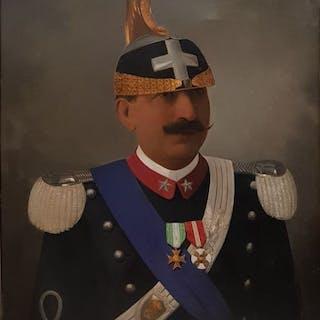 Giovanni Beri (1841-1924) - Ritratto del Re Vittorio Emanuele III