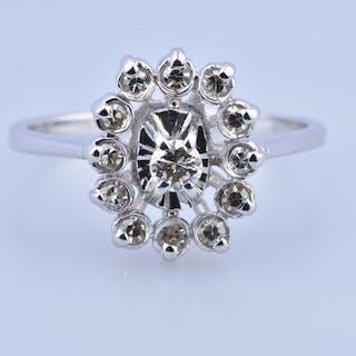 18 quilates Oro blanco - Anillo - 0.33 ct Diamante