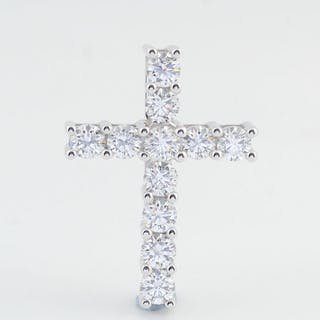 Passion Arts - 18 kt. White gold - Pendant - 1.00 ct Diamond - Diamond