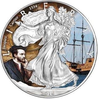 USA - 1 Dollar 2016 'Eagle - Jacques Cartier - Entdecker...